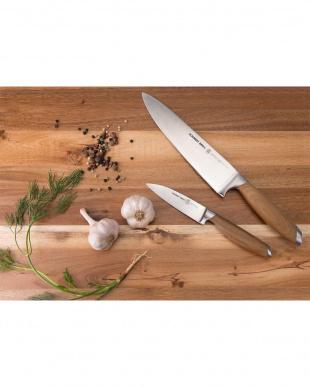 Bonded Teak キッチンナイフ 2本セット(シェフナイフ/パーリングナイフ)を見る