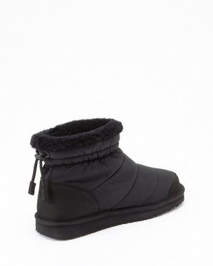 Black SNOWファッションショートブーツ見る