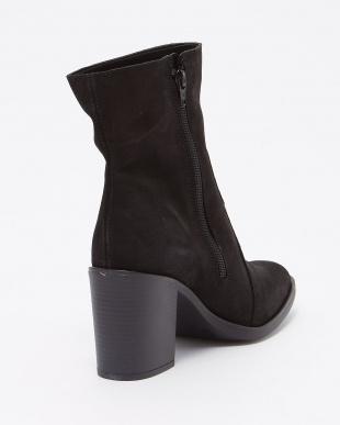 ブラックスエード イタリア製 本革ミドル丈ブーツ・コバソール見る