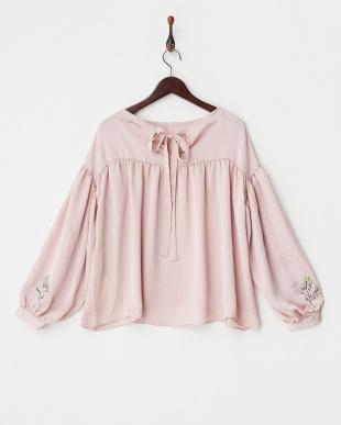 PINK oN1/袖刺繍サテンBL見る