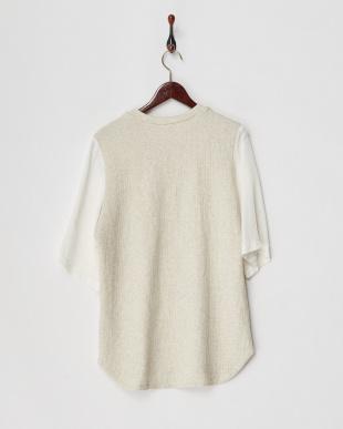 アイボリー ミニパイル接結半袖Tシャツを見る
