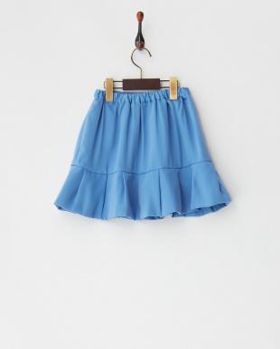 ブルー ライトブルー タック切り替えスカート見る