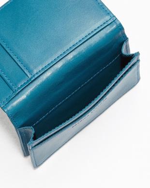 L.BLUE ストライプカードケース見る
