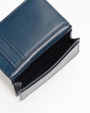 BLUE ストライプカードケース見る