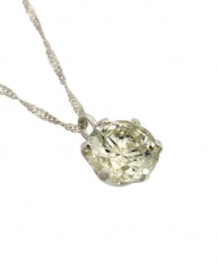 Pt 天然ダイヤモンド 大粒0.6ct プラチナ6本爪ネックレスを見る