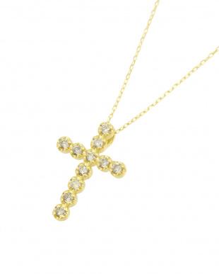 K18YG 天然ダイヤモンド 11石 0.2ct クロスネックレスを見る