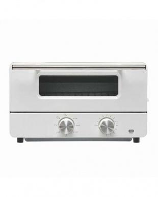 ホワイト スチーム機能付きオーブントースターを見る