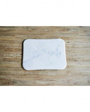 ホワイト 珪藻土バスマット+Marble見る
