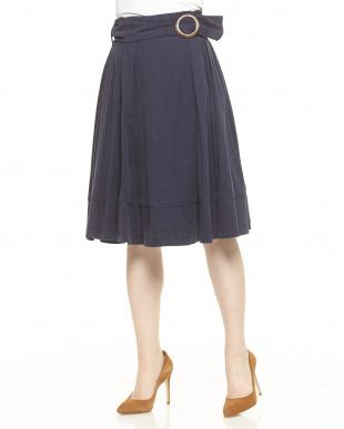 キャメル ベルト付きカラースカートを見る