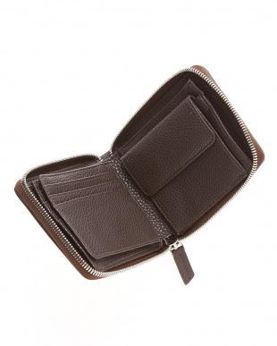 ブラックニコチン クロコダイルパッチワークラウンドファスナー折り財布見る