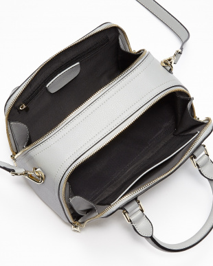 L.Gray ダブルファスナー レザーハンドバッグを見る