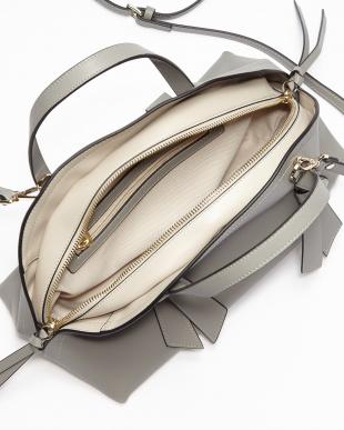 L.Gray リボンレザーコンビ半円バッグを見る