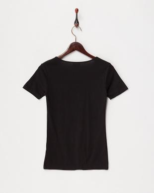 ブラック カラダ温暖化 ストレッチコットン 半袖シャツ見る