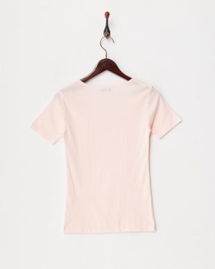 ウォームピンク カラダ温暖化 ストレッチコットン 半袖シャツ見る