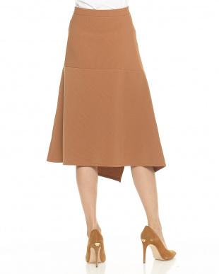 キャメル リップルカットスカートを見る