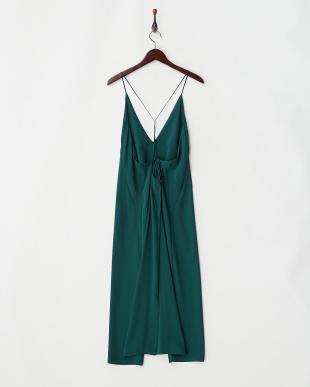 グリーン スライダー付きキャミドレス見る
