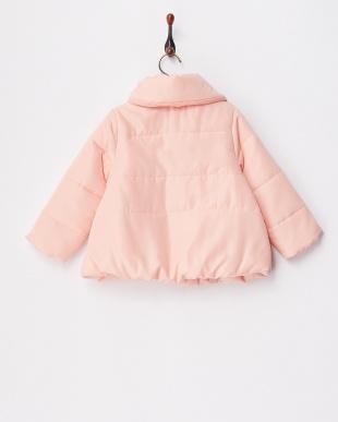 L・ピンク ライトピンク 中綿ショートコート見る