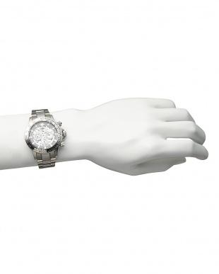 シルバー/ブラック/ホワイト 機械式腕時計 003|MEN見る