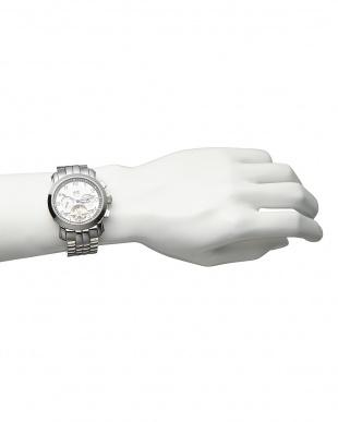 ホワイト/ホワイト 機械式腕時計 008|MEN見る