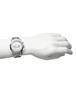 ホワイト/ブラック 機械式腕時計 008|MEN見る