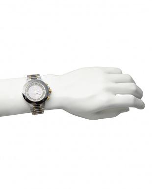 ブラック ダイヤ付き ソーラー電波腕時計 024|MENを見る