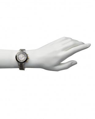 ブラック ダイヤ付き ソーラー電波腕時計 024|WOMEN見る