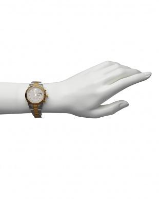 ゴールド ダイヤ付き ソーラー電波腕時計 026|WOMENを見る