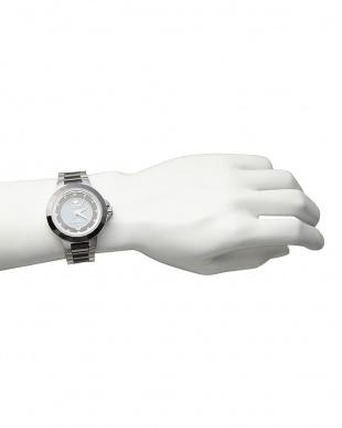 シルバー ソーラー電波腕時計 028|MEN見る