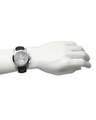 ブラック/ブラック 機械式腕時計(手巻きのみ)044|MEN見る