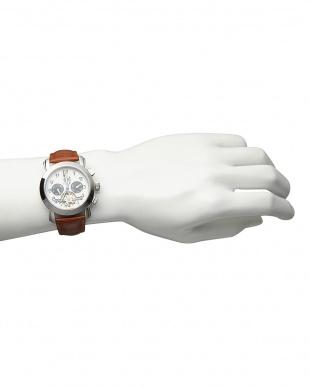 ホワイト/ブラック 機械式腕時計(手巻きのみ)044|MENを見る