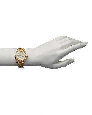 ゴールド ルビー付き 電波腕時計 088|WOMENを見る