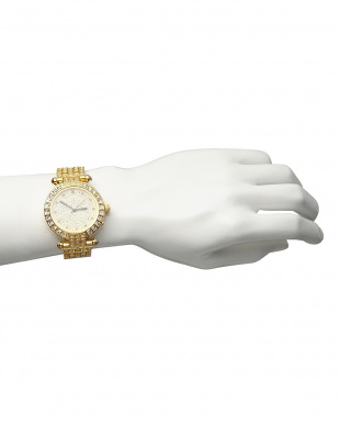 ゴールド ルビー付き 電波腕時計 088|MENを見る
