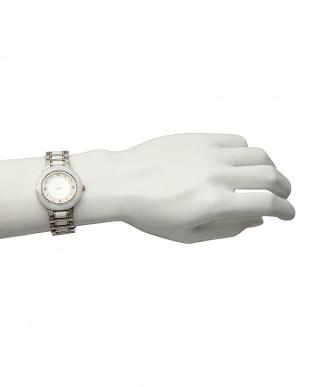 ホワイト サファイヤ付き 電池式腕時計 001|MEN見る