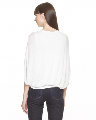 WHITE 羽織りデザイン シルク混ニットプルオーバーを見る