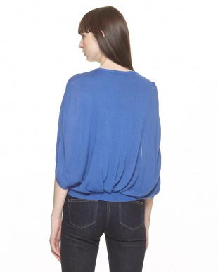 BLUE 羽織りデザイン シルク混ニットプルオーバーを見る