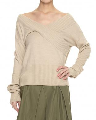 GRAY カシュクールデザインセーターを見る