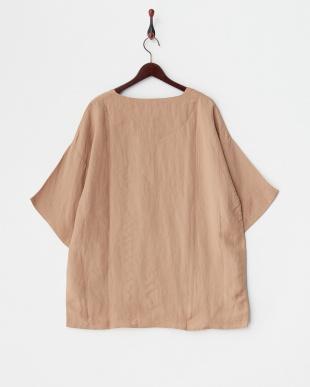キャメル リネン混プルオーバーシャツを見る