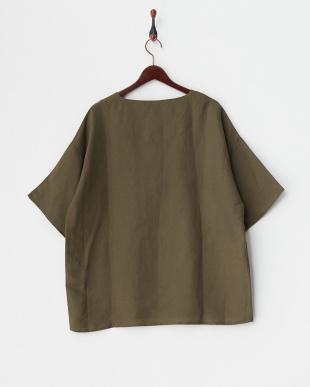 オリーブ2 リネン混プルオーバーシャツを見る
