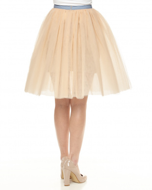 PINK BEIGE TULLE SKIRTを見る