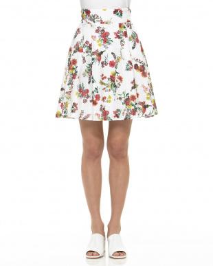 OW シャーリングフラワーフレアースカートを見る