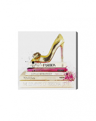 GOLD SHOE AND FASHION BOOKS 60.9×60.9cm見る