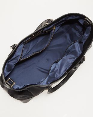ブラック 横型トートバッグを見る