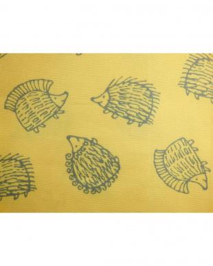 ハリネズミYE 綿カーテン 100×135cm 2枚組見る