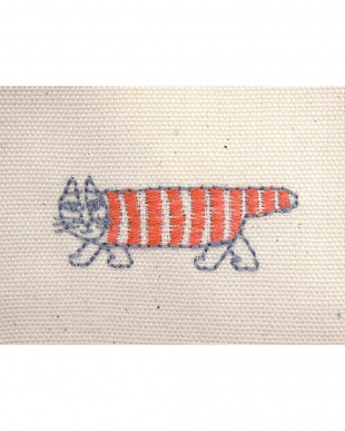 マイキーRE 刺繍綿カーテン 100×135cm 2枚組見る