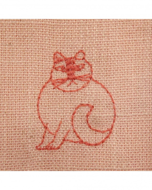 スケッチRE 刺繍麻混カーテン 100×135cm 2枚組見る