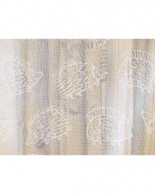 ハリネズミ レースカーテン 100×133cm 2枚組見る