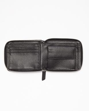 ヒマラヤ クロコダイルパッチワークラウンドファスナー折り財布見る
