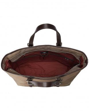 ベージュ ナイロン縦トートバッグ(日本製)を見る