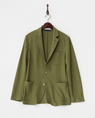 グリーン EVALET メッシュテーラードジャケットを見る