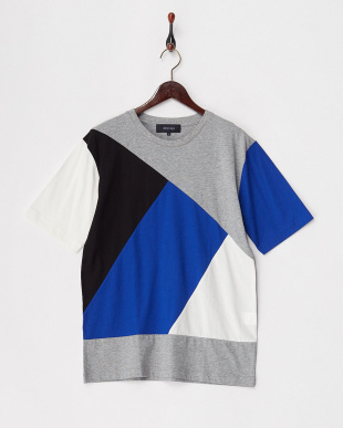 グレー ランダムパッチワークTシャツを見る